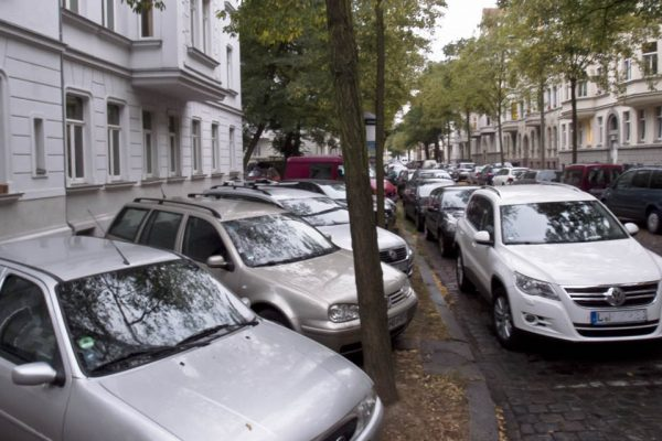 Gehwegparken Leipzig Schleußig